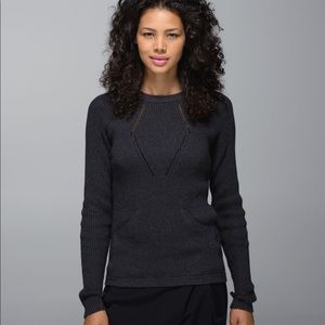 Lululemon The Sweater The Better Charcoal Gray